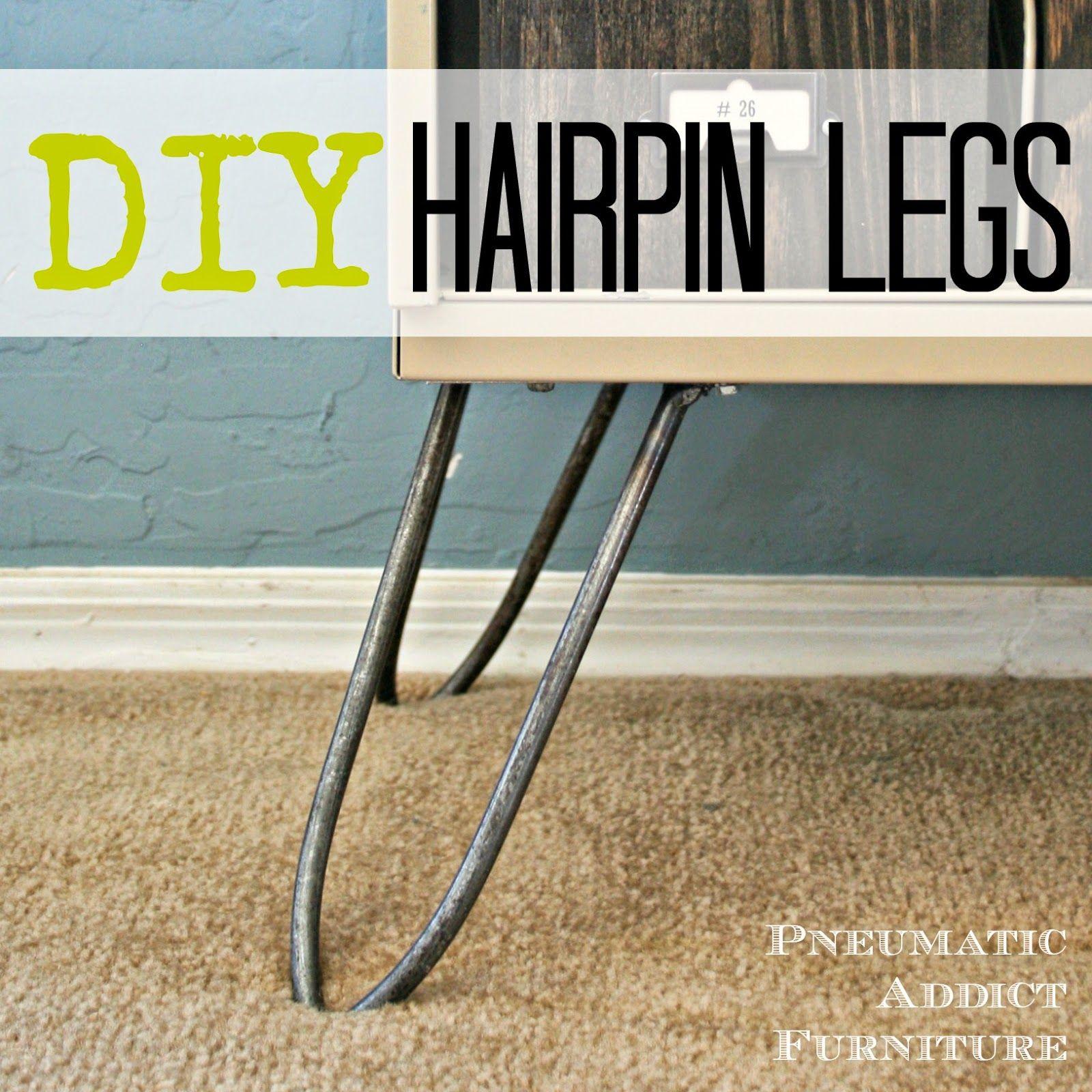 Furniture Legs Diy pneumatic addict furniture: diy hairpin legs super-cool lady with