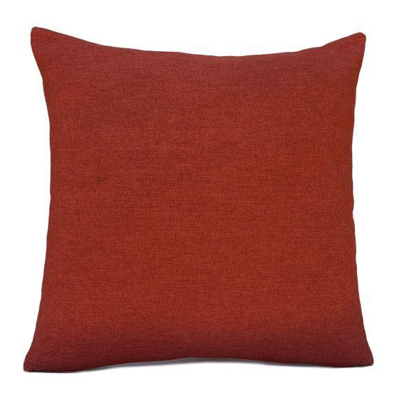 Dark Rust Orange Pillow Throw Pillow Cover Decorative Pillow