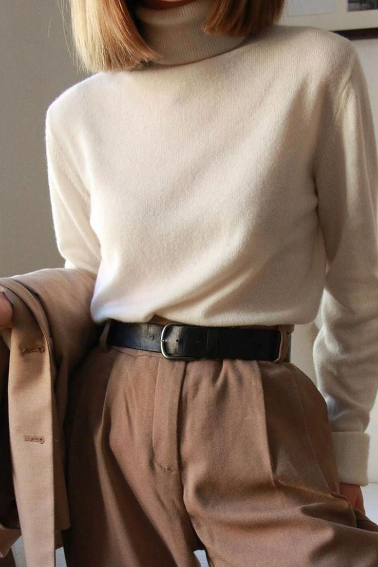 Pure Cashmere Turtleneck Sweater in 2020 | Cashmere outfits
