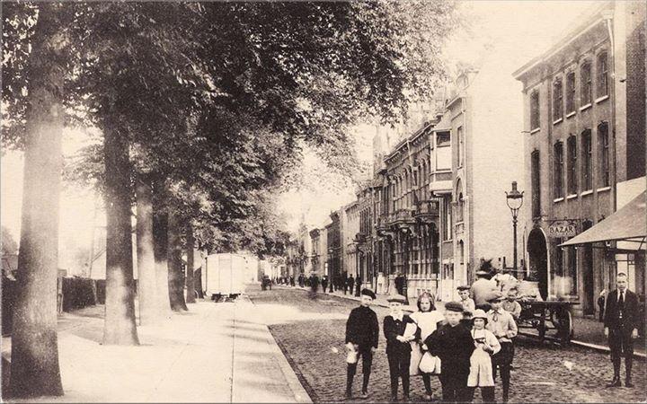 1914: Spoorlaan richting Heuvel. Rechts pand N 269, vanaf 1910 Spoorlaan 60.