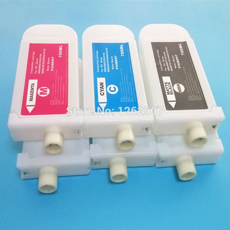 Ink Bottle For Canon IPF8300 IPF8310 Printer Cartridge PFI 704 Without Chip