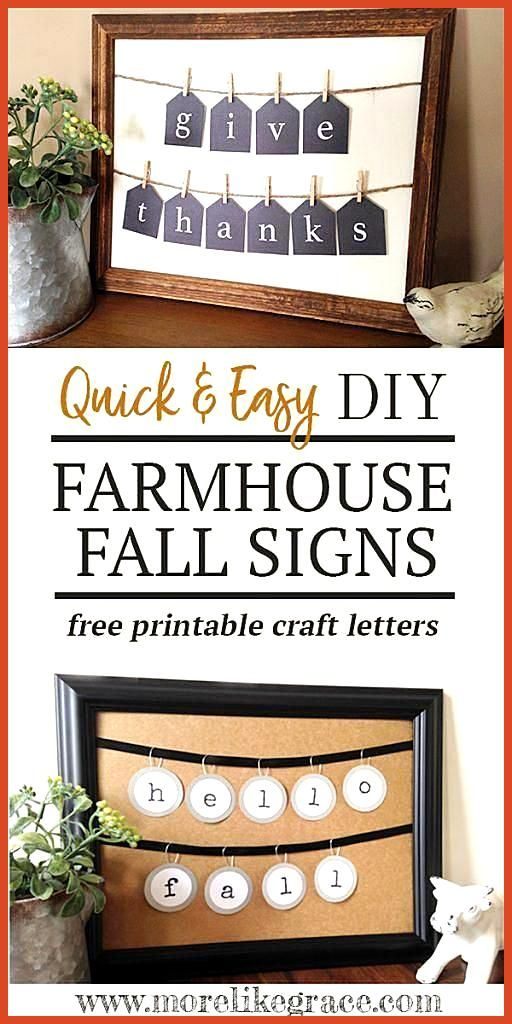 DIY Farmhouse Fall Decor Signs DIY Farmhouse Fall Decor Signs Informations About DIY Farmhouse Fall Decor Signs Pin You can easily use my profile to examine different pin...