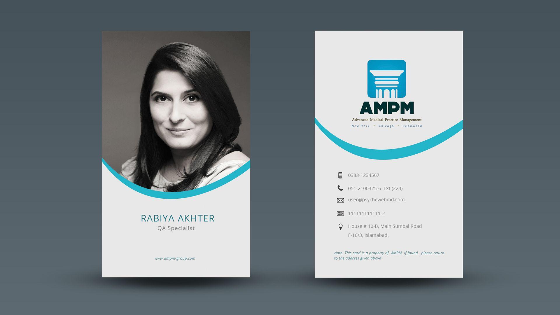 Id Cards Identity Card Design Card Design Business Card Design