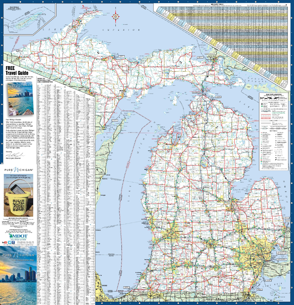 Super Detailed Map Of Michigan In 2020 Map Of Michigan Detailed Map Map