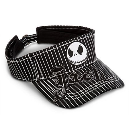 Disney Sun Visor Hat - Jack Skellington - Striped  08ea0693638