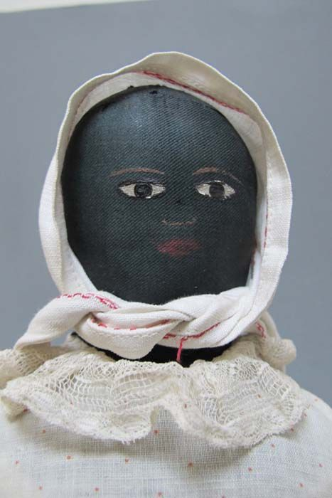 American Primitive Gallery - BLACK DOLL WITH PAINTED FEATURES