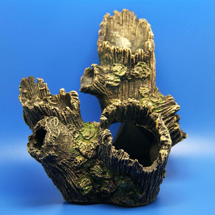 Fish tank aquarium castle hill - Tree Trunk Aquarium Ornament Root Drift Wood Hide Log Decoration Fish Tank Moss