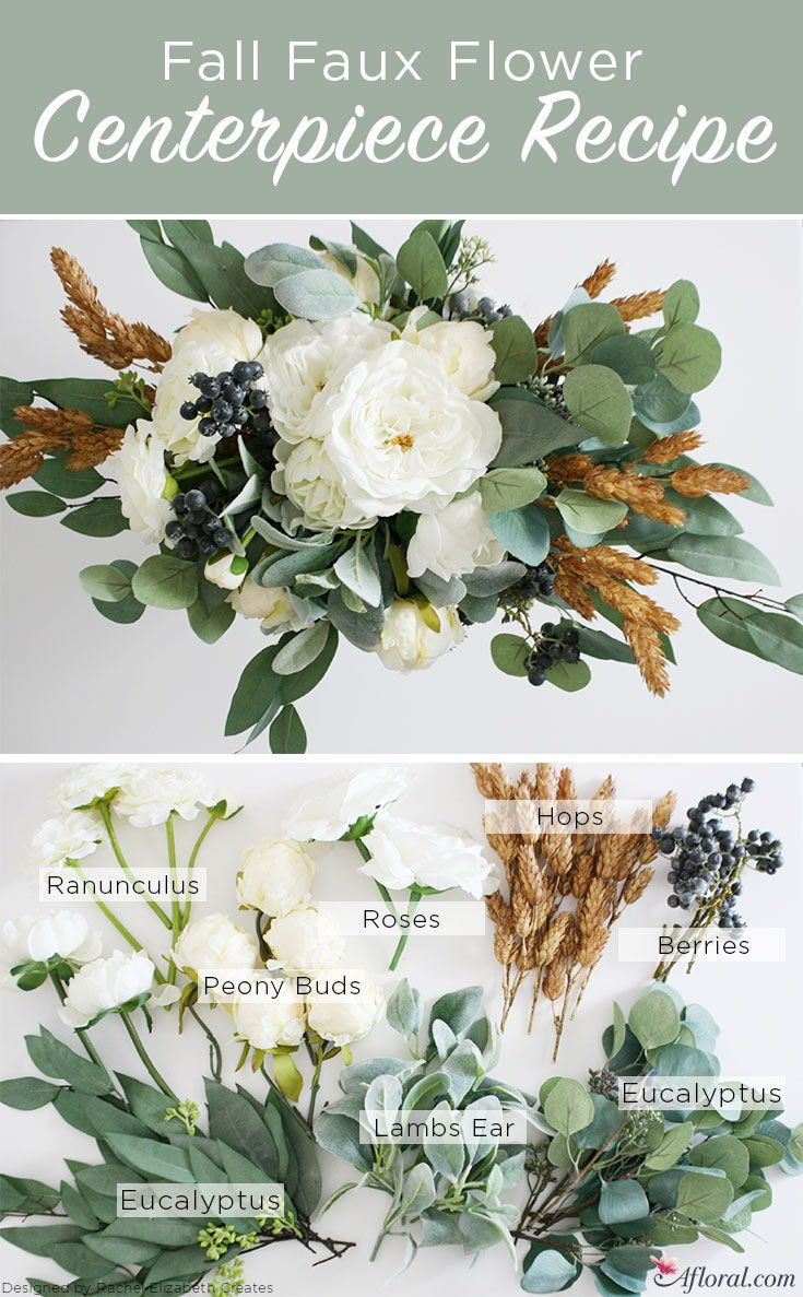 DIY Fall Centerpiece | Silk flowers, Wedding centerpieces and ...