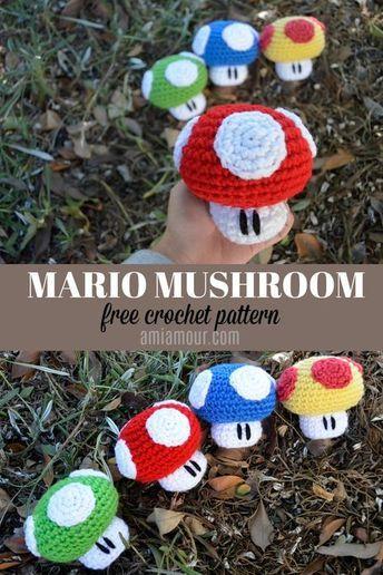 Mario Mushroom Amigurumi Crochet Pattern Incredible Crafts