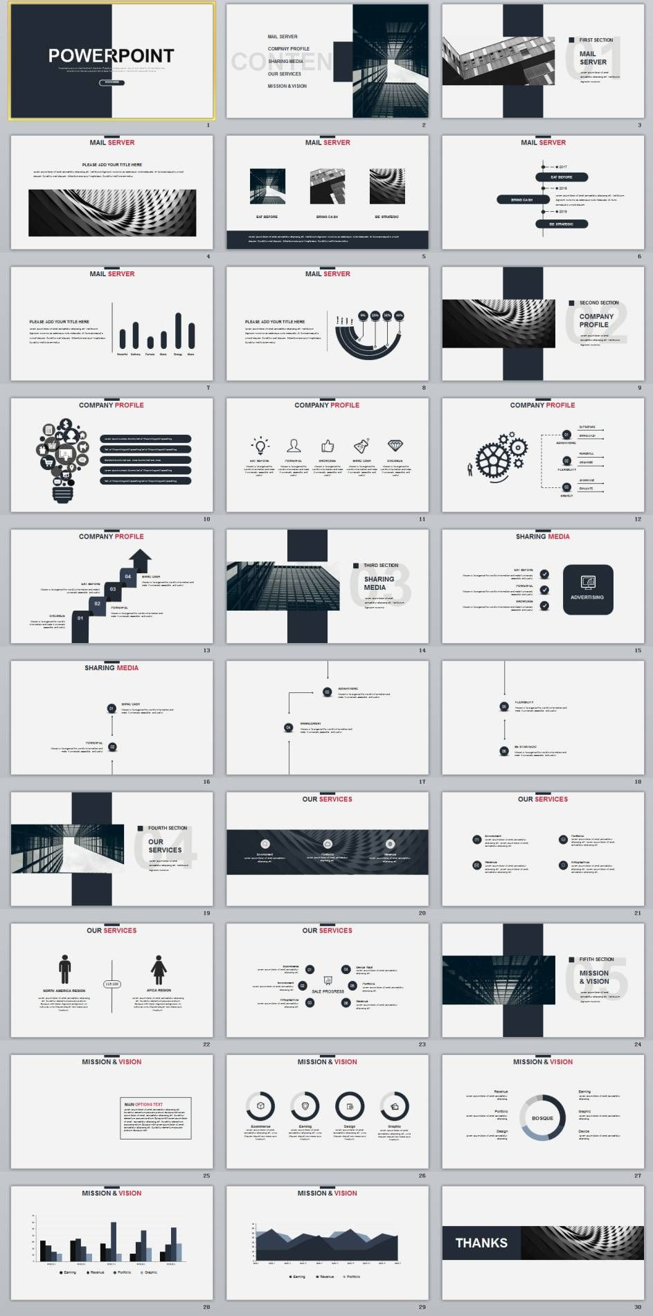 30 gray creative charts design powerpoint template design de 30 gray creative charts design powerpoint template toneelgroepblik Image collections