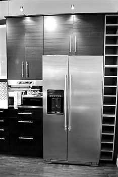 Stainless Steel Side By Side Refrigerator Covers | Brushed Aluminum Magnet  Skins, Covers And Panels Are BIG Magnetic Sheets That Cover Fridge  Appliances ...