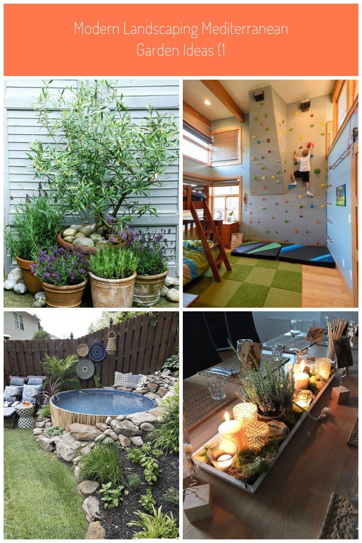 Modern Landscaping Mediterranean Garden Ideas 1 In 2020 Balkon Dekor Holzpaletten Ideen Platzsparende Mobel