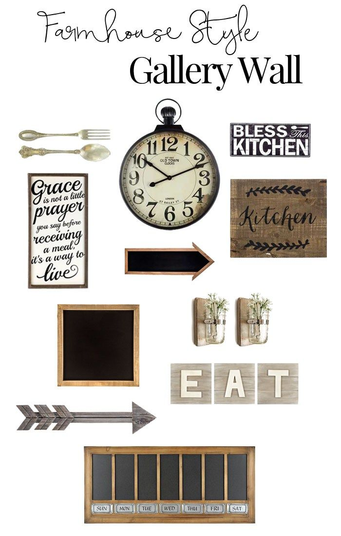 Rustic Gallery Wall Inspiration For The Kitchen Embellish Ology Rustic Gallery Wall Kitchen Gallery Wall Farmhouse Gallery Wall