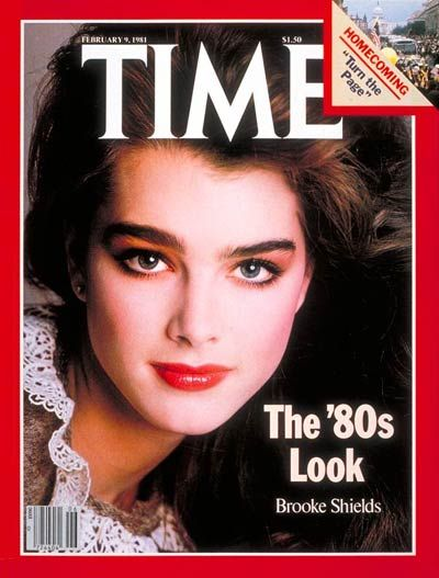 Brooke Shields En La Portada De La Revista Time Life Magazine Photos Brooke Shields 1980s Makeup