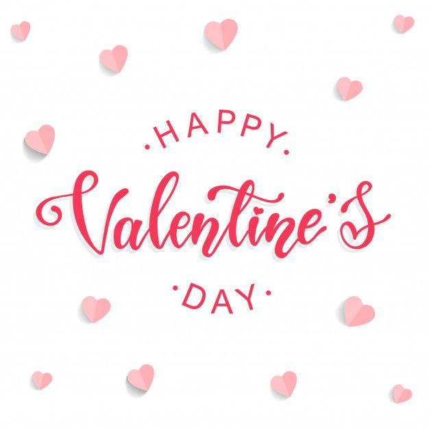 Elegant Greeting Card Design For Valentine S Day Happy Valentines Day Calligraphy Valentine Day Cards Valentines Day Greetings