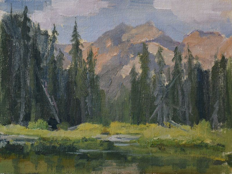 Joan Breckwoldt Wyoming Pond Plein Air From A 2014 Trip To Grand Tetons Wy