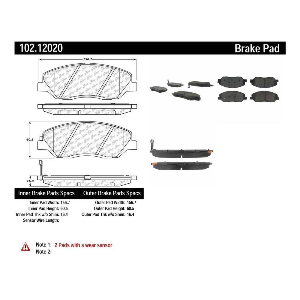 Centric Parts Disc Brake Pad Set Brake Pads Grand Caravan 2009
