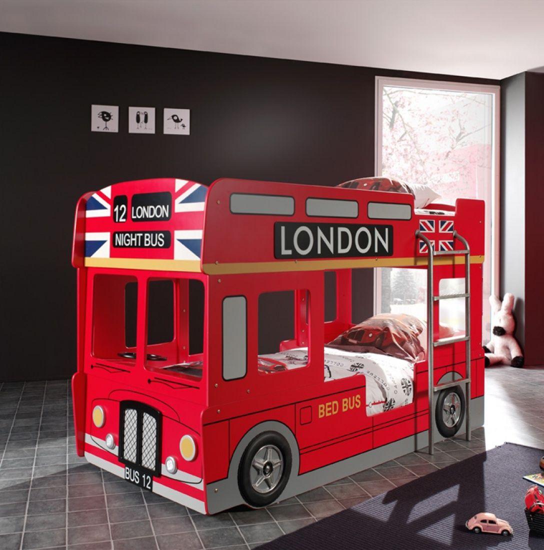 Autobett Bus-Etagenbett London Bus mit Leiter | Schöne ...