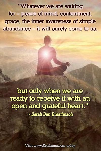 Daily Inspiration Quote Whatever We Are Waiting For Peace Of Mind