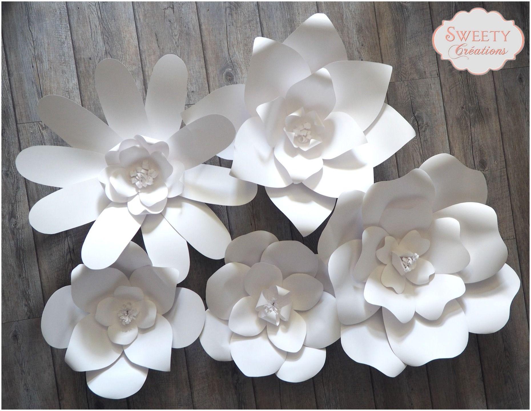 Fleurs en papier g antes d corations murales par sweety creation giant flower fleurs - Diy fleur en papier ...