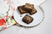 Peanut Butter Swirl Brownies (better than PB, egg whites, sub oats or coconut flour for almond flour)