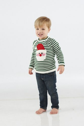Knit Santa Sweater from The Couture Baby Mudpie boy Pinterest