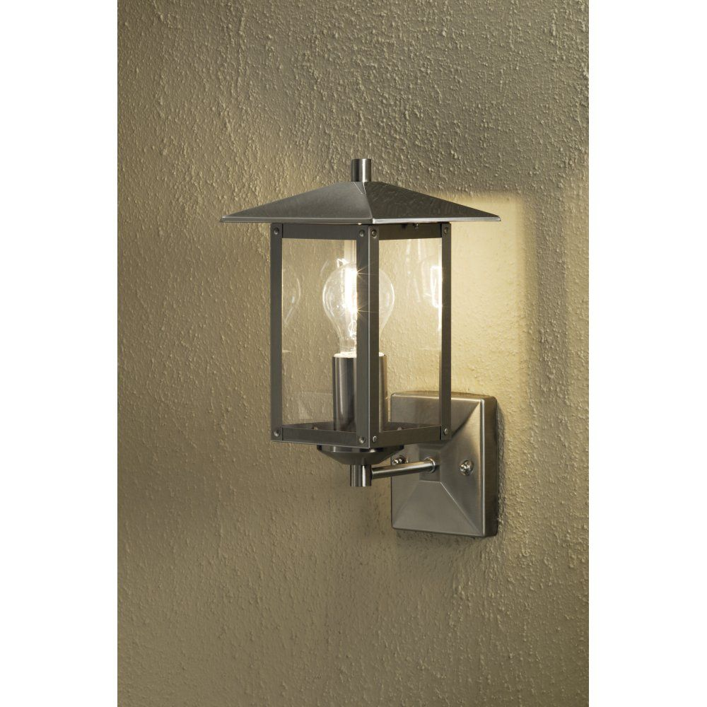 High Quality Konstsmide Sorrento Single Light Outdoor Wall Light In Stainless Steel    Konstsmide From Castlegate Lights UK