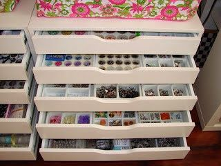 CRAFTY STORAGE Alex from IKEA the most used craft storage unit