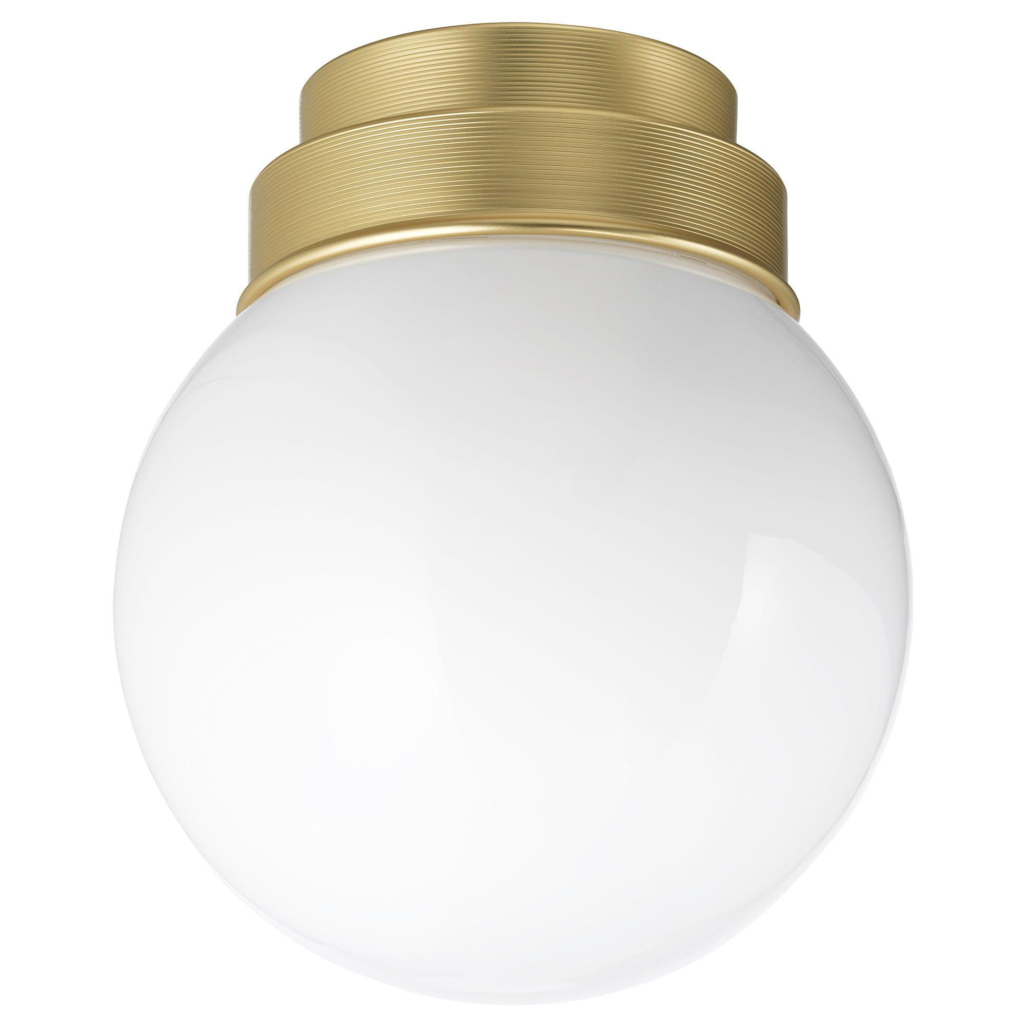 Frihult Plafond Wandlamp Messingkleur Ikea Plafonnier Laiton Luminaire