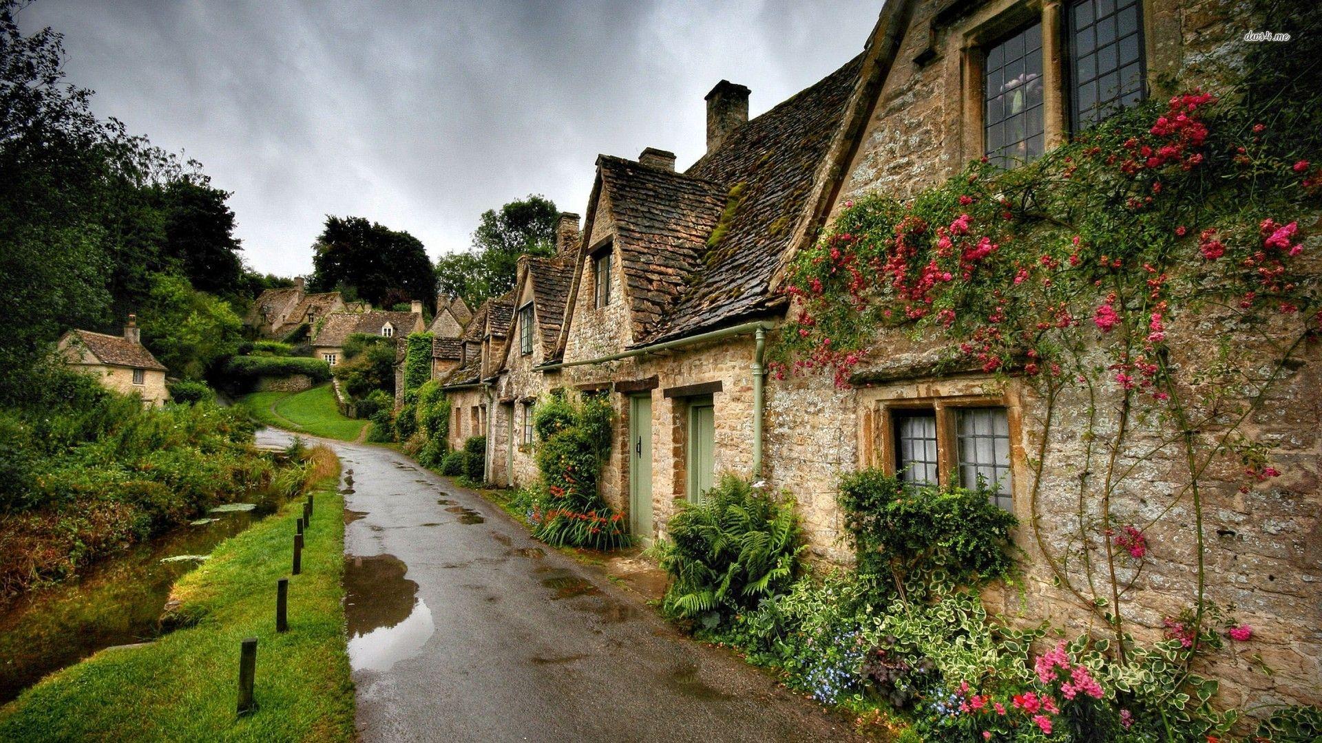 Beautiful Village Street After The Rain Wallpaper Mixhd