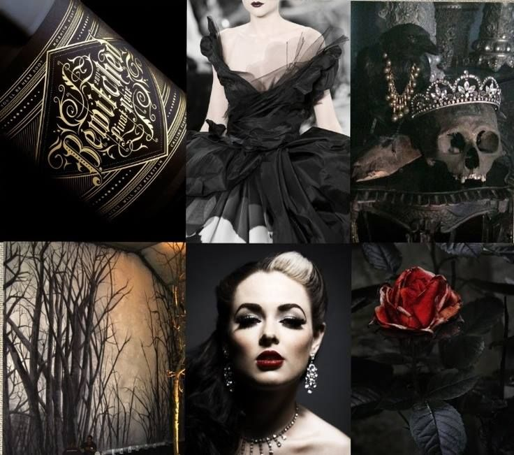 Gothic Wedding Decoration Ideas: Mood Board For Evil Snow Queen