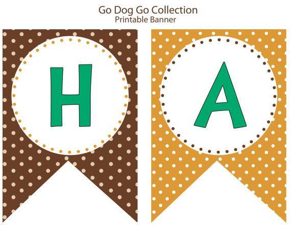Go Dog Go Inspired Birthday Party PRINTABLE by LibbyLanePress