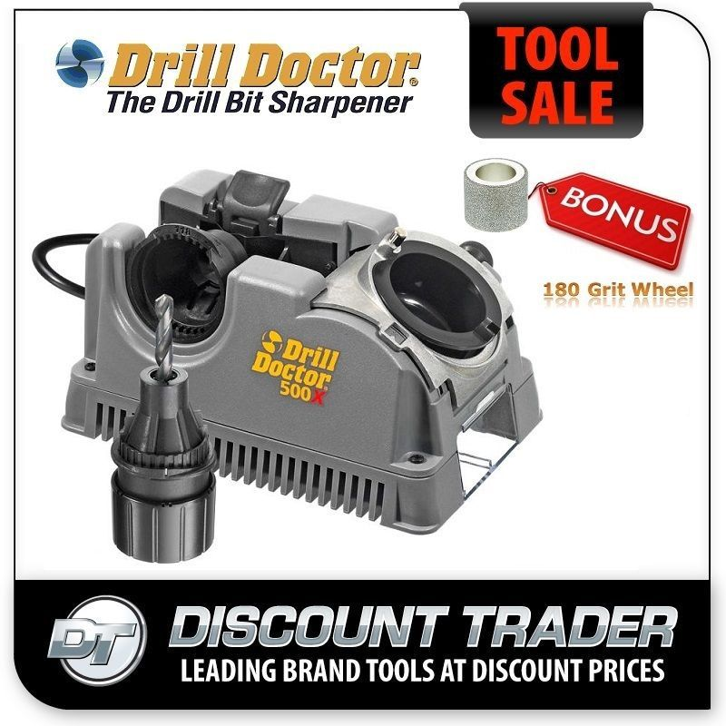 Drill doctor drill bit sharpener tradesman 500x plus bonus