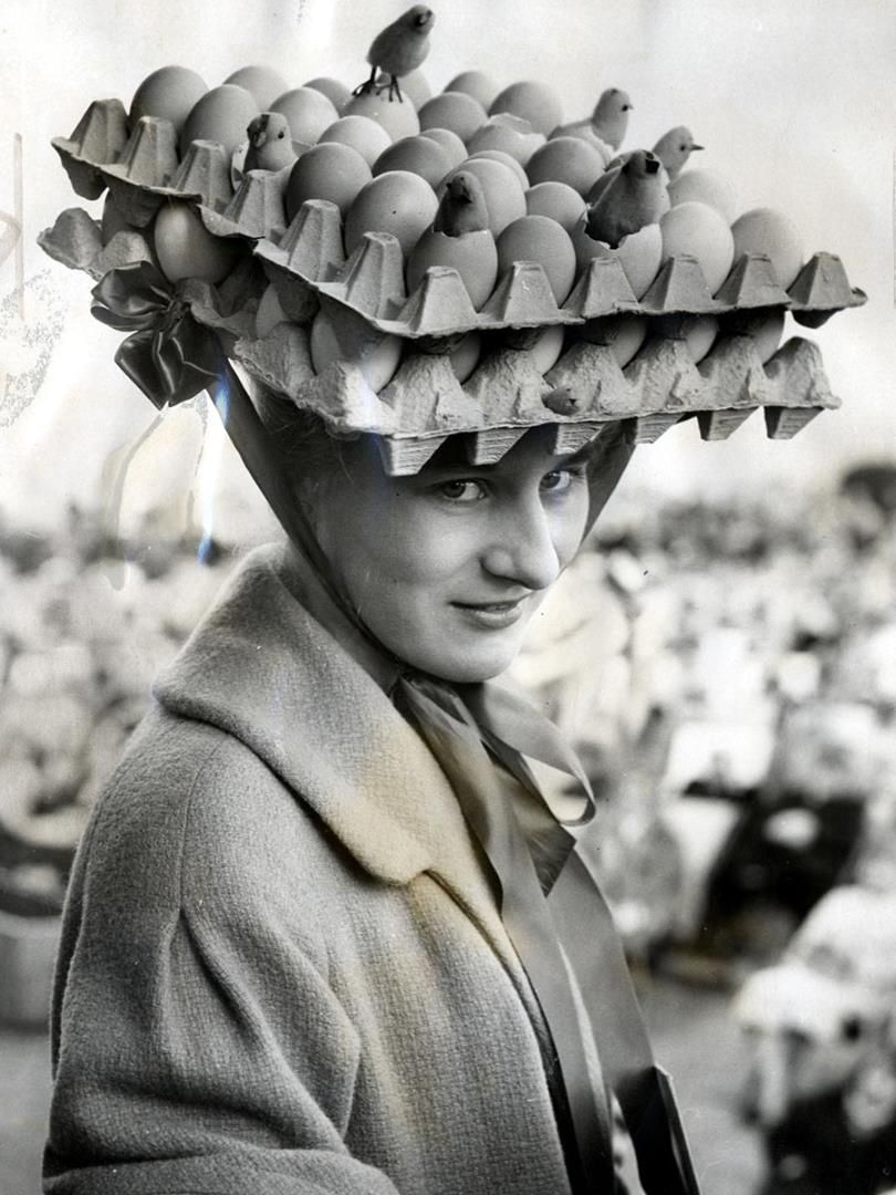 Who else thinks Easter bonnets need to make a comeback in a BIG way? Here  are 10 amazing and strange vintage Easter bonnets \u2026 that people really wore.