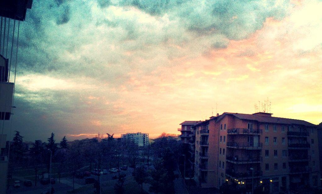 Sunset in Verona, Italy.
