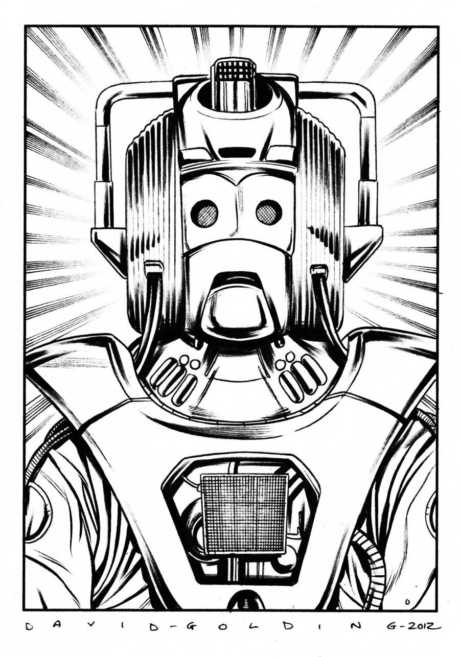DOCTOR WHO CYBERMAN COMMISSION DAVID GOLDING 2012 by DavidGolding.deviantart.com on @deviantART