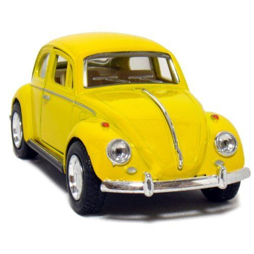 """5"""" 1967 Volkswagen Classic Beetle 1:32 Scale (Yellow) By"""