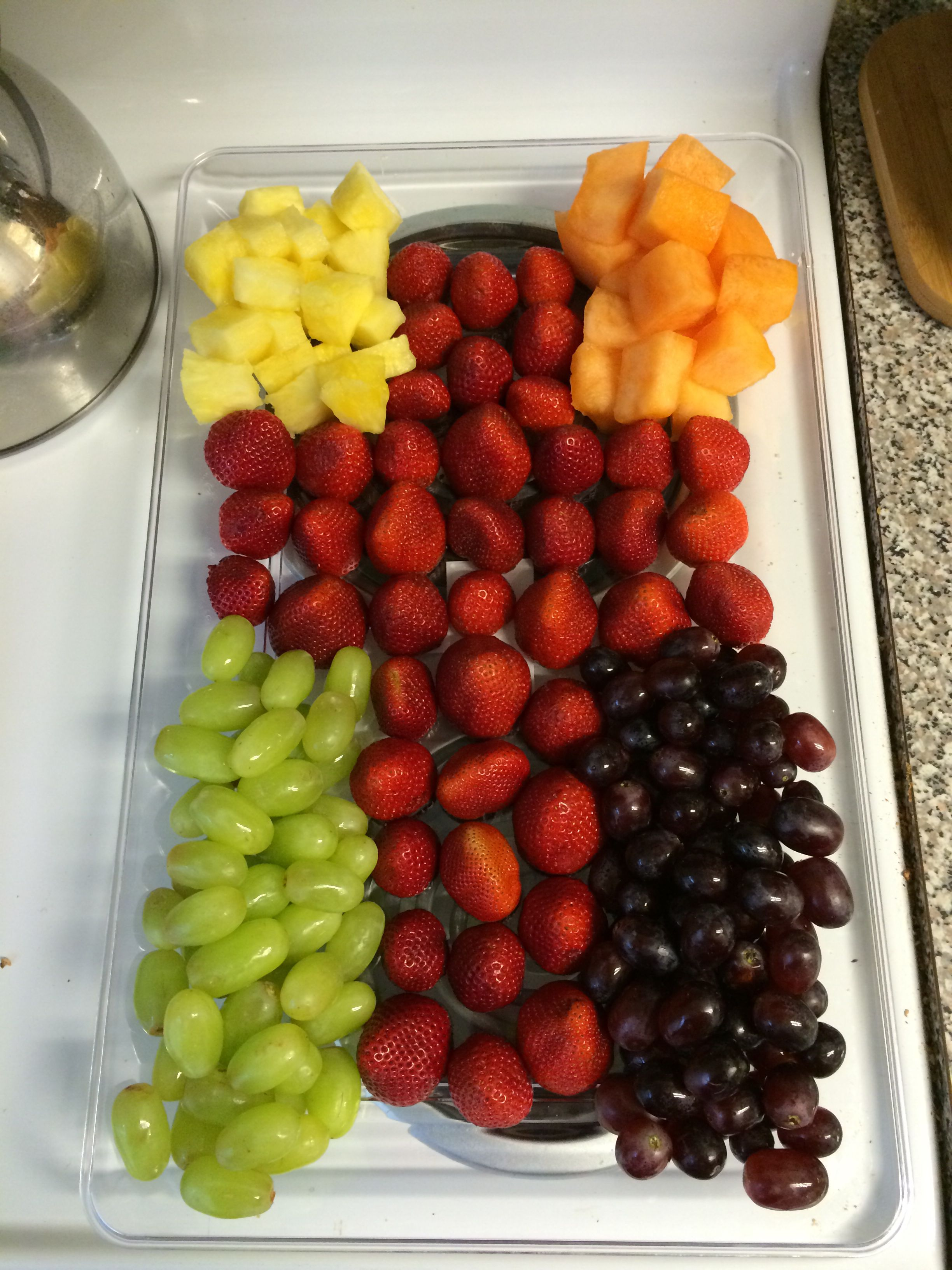 Easter fruit tray! So easy!