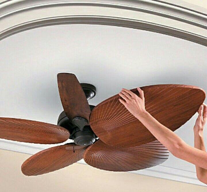 Palm leaf ceiling fan hawaiian tropical home decor pinterest palm leaf ceiling fan aloadofball Images
