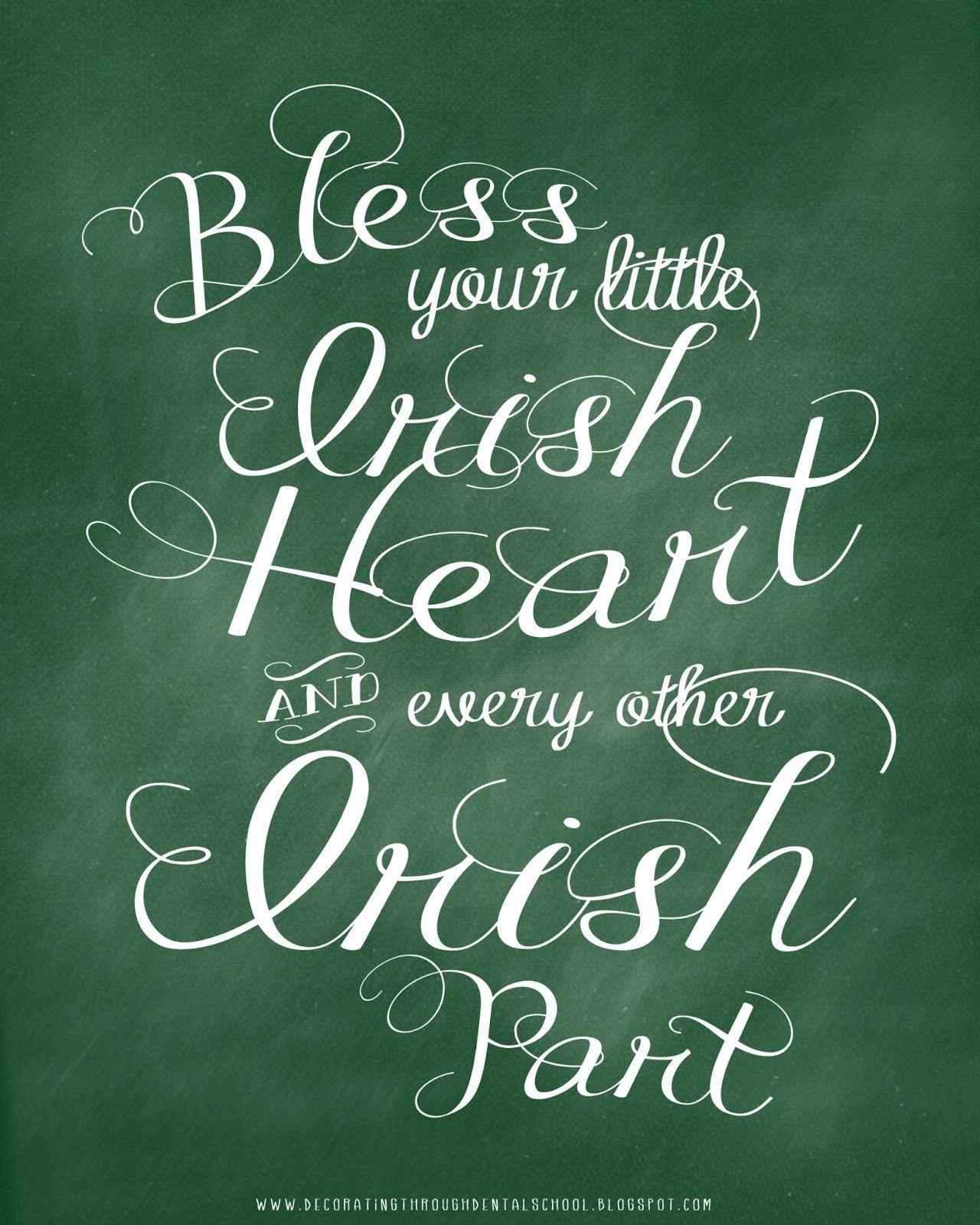 Bless your little irish heart