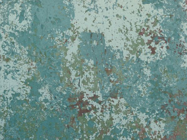 Very Old Metal Texture With Peeling Blue Paint And Small
