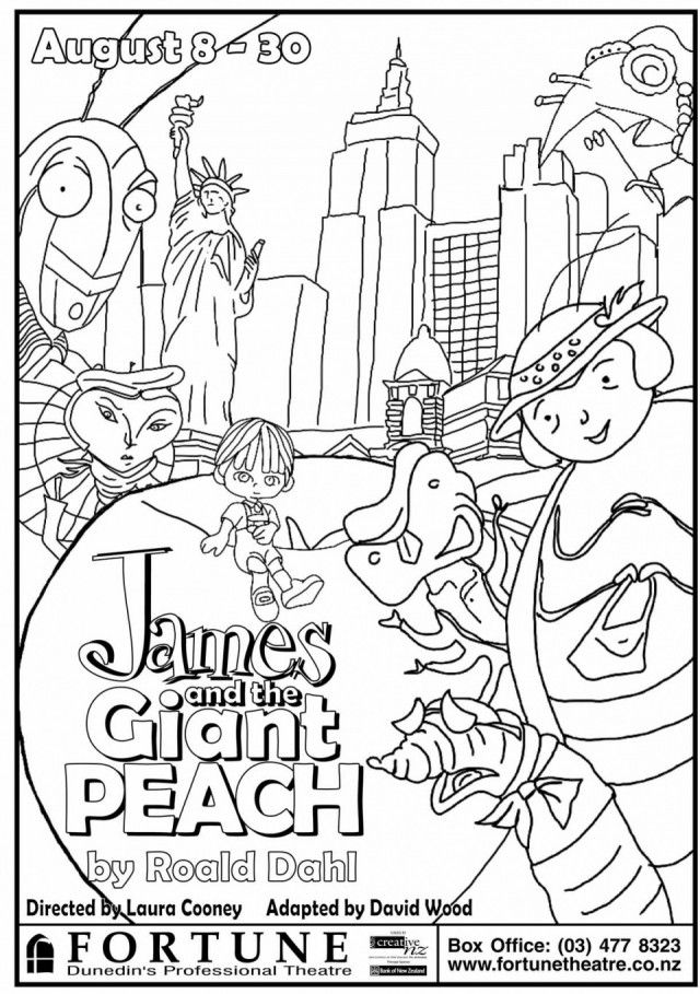 James And The Giant Peach Colouring Pages 278591 Giant Coloring