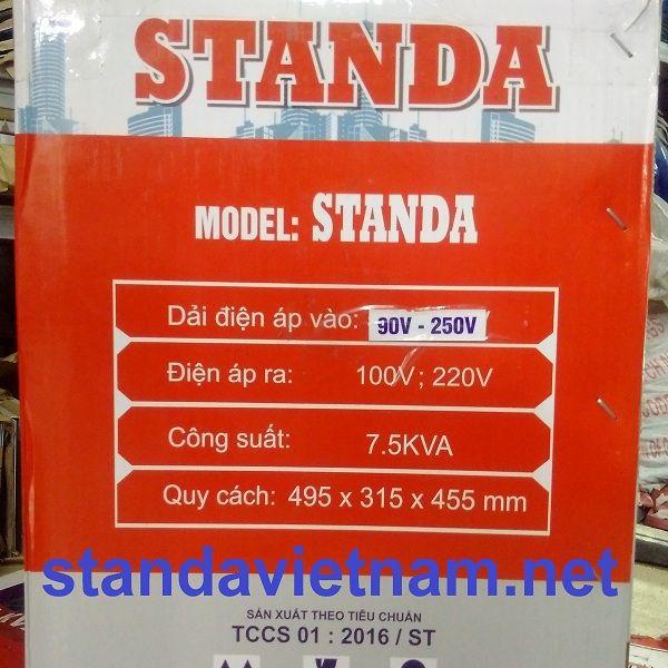 Ổn áp Standa 7.5KVA | Standa 7500VA chính hãng do Công ty Cổ phần Standa Việt Nam sản xuất. Hotline : 0987.621.590