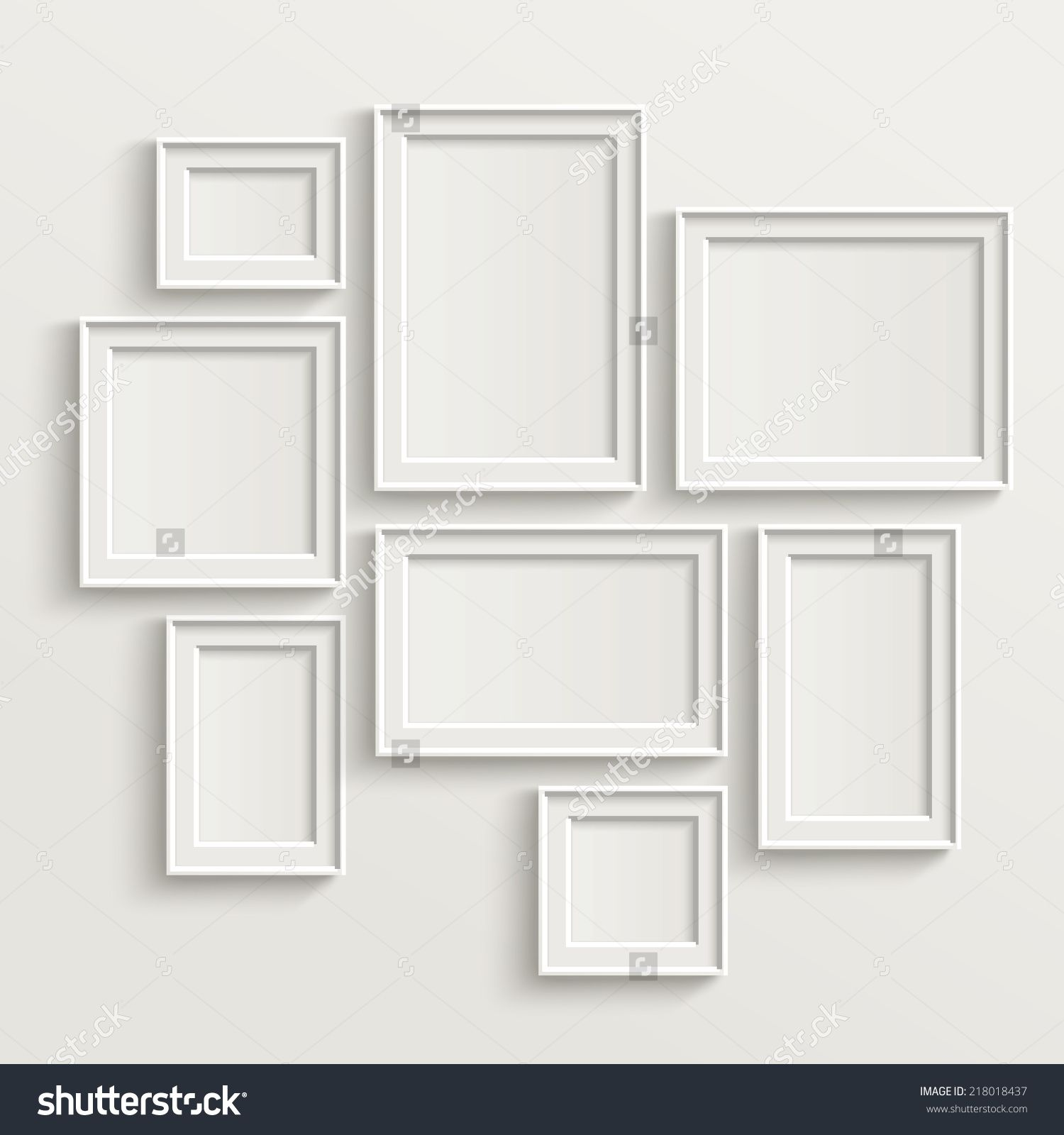 Picture frame wall template choice image craft decoration ideas excellent wall frame template gallery resume ideas namanasa blank picture frame template set isolated on wall jeuxipadfo Gallery