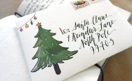 Printable Holiday Mail Art Envelope Template