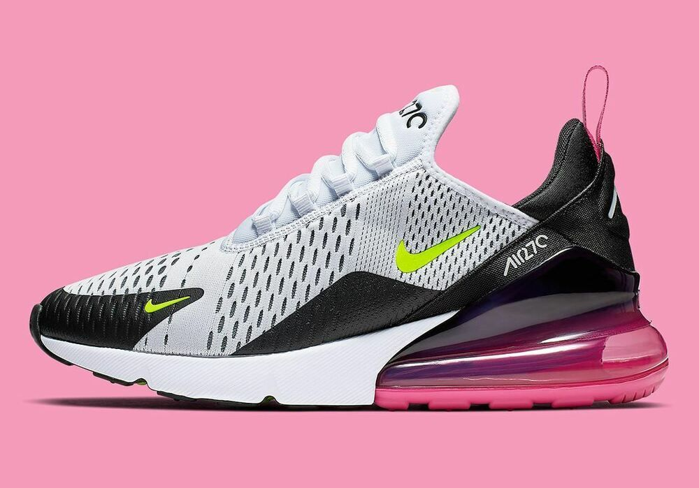 eBay Sponsored) NIKE AIR MAX 270 WHITE VOLT BLACK LASER