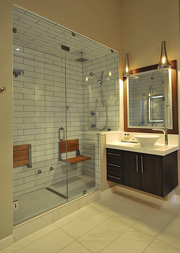 4x16 subway tile on shower walls