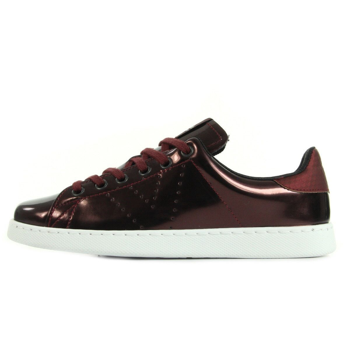 Baskets femme VICTORIA 125106 metal 37 Bordeaux Bordeaux