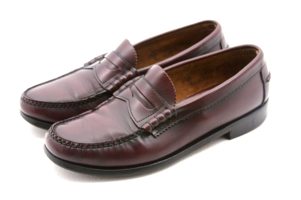 DEXTER Penny Loafers Burgandy Leather Mens Shoes 10.5 D