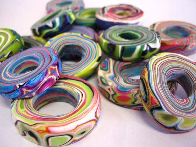 https://flic.kr/p/pWqdkg   Scrappy Spiral Beads   No direction in the studio today - just a fun play.